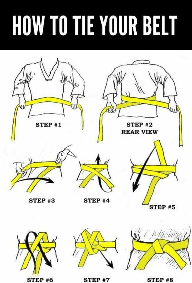 Knyte sitt taekwondobälte