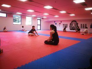 Tian Dao taekwondo håller kampträning i Billesholm inför Krona Cup. 20180908.